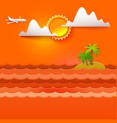 Hot orange colors tropics vector