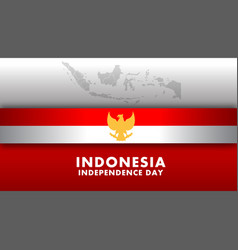 indonesia independence day wide screen background vector image