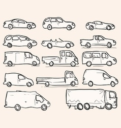 Isolated Vehicle Types vector image