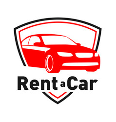 Logo for car rental and sales vector