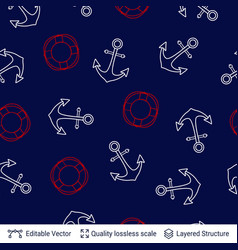 marine seamless pattern design template vector image