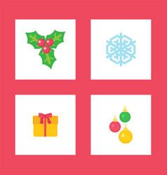 mistletoe plant symbolic image christmas holiday vector image