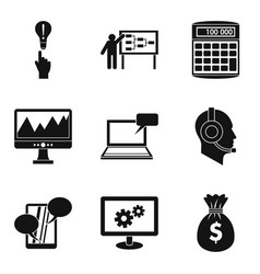 Mobile development icons set simple style vector