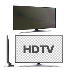 modern hdtv lcd led screen television set vector image