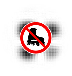 no roller skates sign icon vector image
