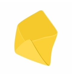 Open yellow envelope icon in cartoon style vector image