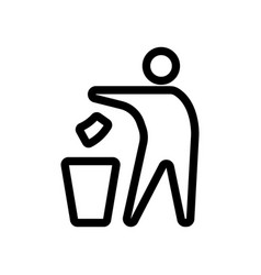 Organic recycling waste icon vector