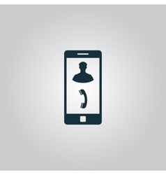 Phone incoming call Icon vector