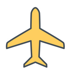 plane line icon simple minimal 96x96 pictogram vector image