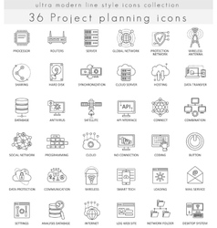 Project planning strategy ultra modern vector image