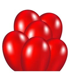 Red festive balloons vector