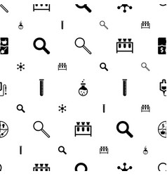 Research icons pattern seamless white background vector