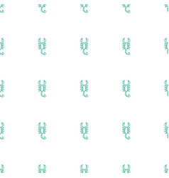 scorpion icon pattern seamless white background vector image