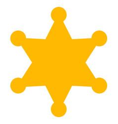 Sheriff star - icon vector