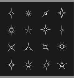 stars and sparks vector image