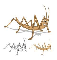 Stick Insect Cartoon Character vector image