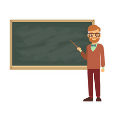 Teacher professor standing in front of blank vector