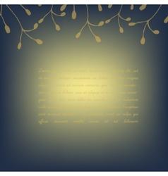 Template invitation card deep blue golden vector