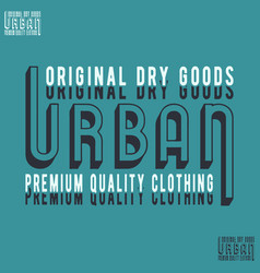 Urban t-shirt stamp vector