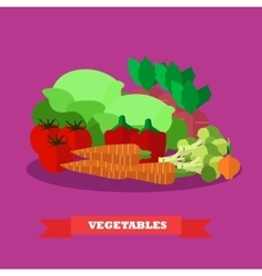 Vegetable food products vector