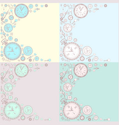 vintage background set vector image