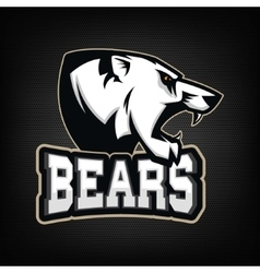 White Bear Sports team mascot vector
