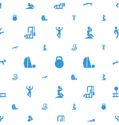 Workout icons pattern seamless white background vector
