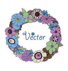 wreath vector image