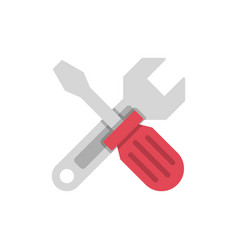 wrench crosses screwdriver vector image