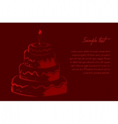 abstract birthday card vector image vector image