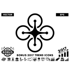 Airdrone Flat Icon With 2017 Bonus Trend vector image vector image
