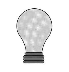 color blurred stripe image light bulb off icon vector image