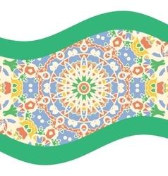 Green and teal mandala art print vector image vector image
