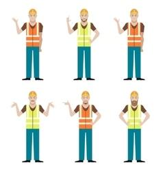 Set of builders vector image