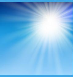 summer sun light in the blue sky vector image
