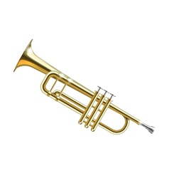 Trumpet isolated vector image