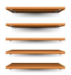 Wood shelves set vector image