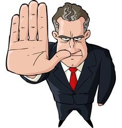 Businessman showing stop vector image