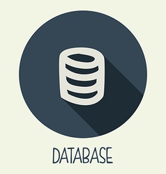 database icon vector image