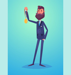 funny business man character isolated vector image vector image