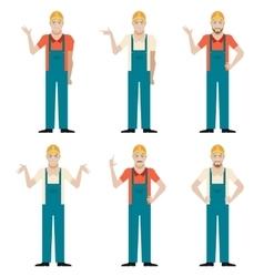 Set of Builders2 vector image