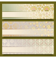 Vintage Flower Banners Retro vector image vector image