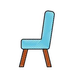 Wooden chair isolated icon vector