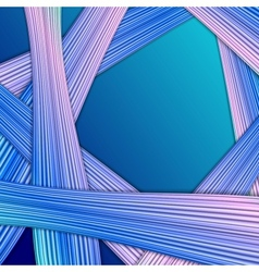 Abstract striped background on dark blue vector image