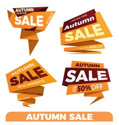 autumn sale sale label price tag banner badge vector image