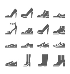 Footwear icon set collection of shoes vector image vector image