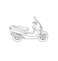 maxi scooter line drawing vector image vector image