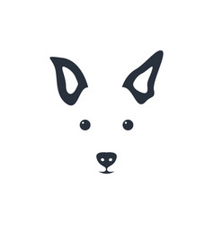 silhouette simple head dog vector image