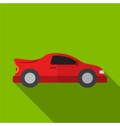 Sport car flat icon vector image vector image