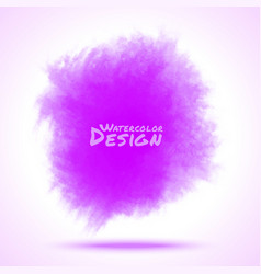 Violet Watercolor splatter vector image vector image